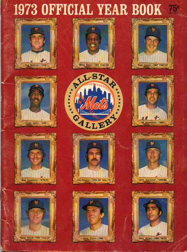 mets yearbook 1973 faith and fear in flushing