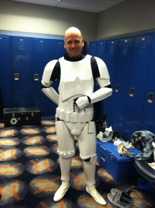 Jace as a stormtrooper at Citi Field