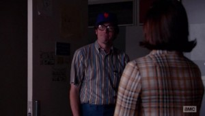 Minor character, major fandom: Ed on Mad Men tips his own Mets cap in 1970/2015.