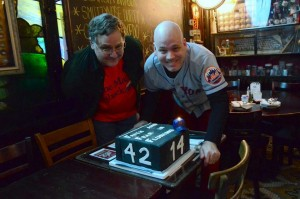 Old Timers Day at Foley's, as we celebrate 10 years of blogging for and with Mets fans who like to read. (Photo by the versatile Sharon Chapman.)