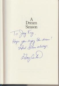 Gary's dedication, 1987