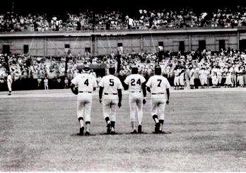 The authors of 1,964 big league home runs thrill the stadium built in 1964.