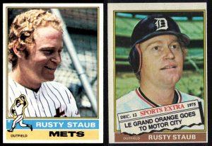 1976 Rusty Staub cards