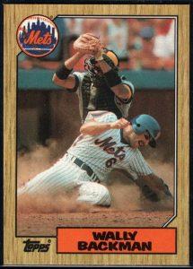 1987 Wally Backman card