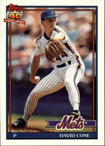 David Cone 1991 card