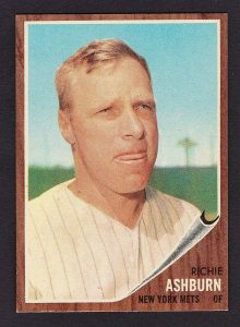Richie Ashburn '62 Topps card